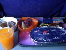 ラン航空の機内食