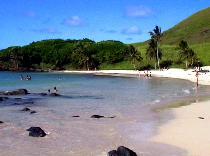 イースター島のビーチ