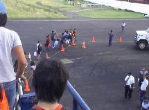 マタベリ国際空港に到着