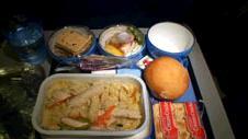 帰国便の機内食