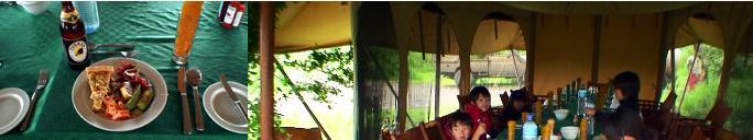 キャンプサイトで食べるランチ