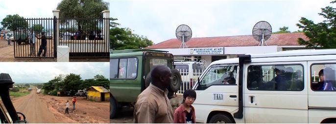 タンザニアの入国審査場