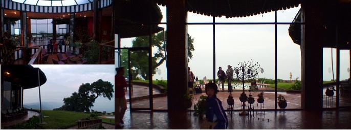 ンゴロンゴロソパロッジのロビーと子供達