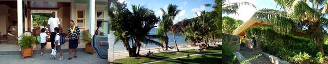 ラ・ルシペルのキュリーズ島を望むプライヴェートビーチ