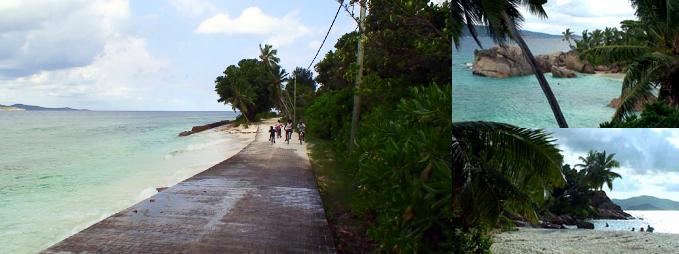 パタトラムヴィレッジ付近の波をかぶる道路