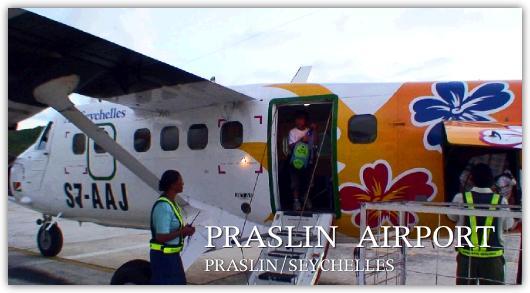 プララン島空港に到着