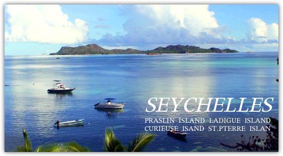 プララン島に到着の朝のビーチ