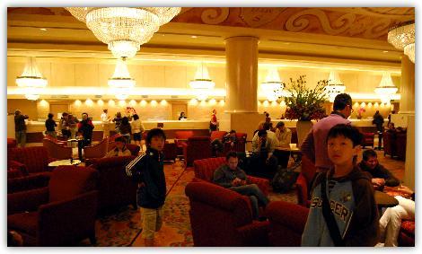 サンフランシスコヒルトンホテルのロビー