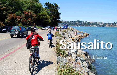 サウサリートからフェリーに自転車を積んでサンフランシスコに戻る