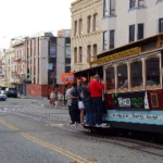 サンフランシスコのチャイナタウンとケーブルカー