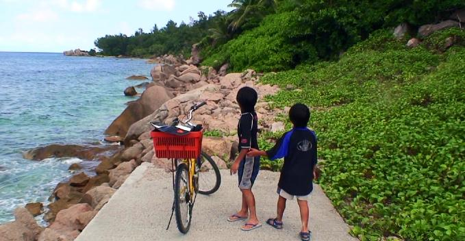 北海岸の子連れサイクリング