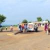 日本の援助でタンザニアに作られた道路