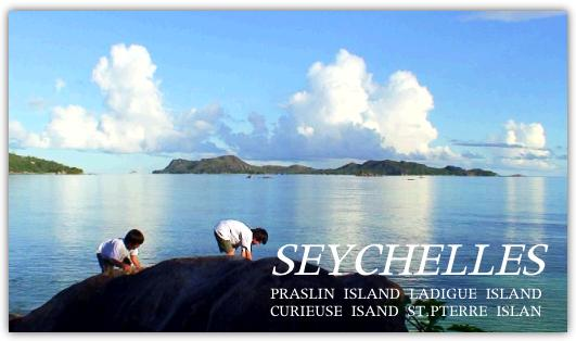 プララン島の朝の海