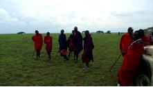 マサイ族の村に到着