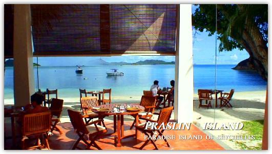 ラルシペルのレストランとビーチ