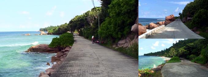 ラディーグ島北海岸の道路