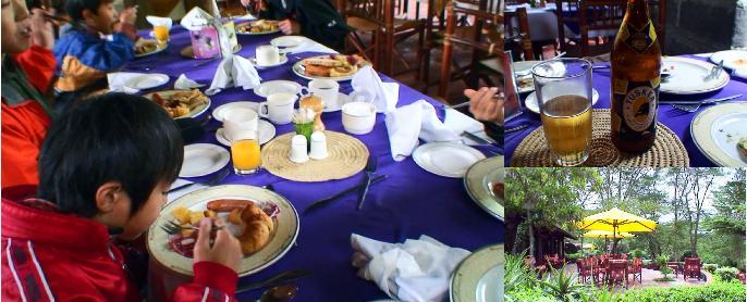ライオンヒルロッジの朝食