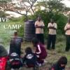 キャンプサイトでお湯を沸かす体験