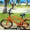 レンタサイクルで借りたビーチクルーザー