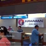 ハワイアン航空のカウンター