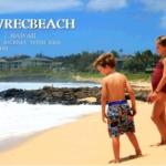 カウアイ島のビーチと子供