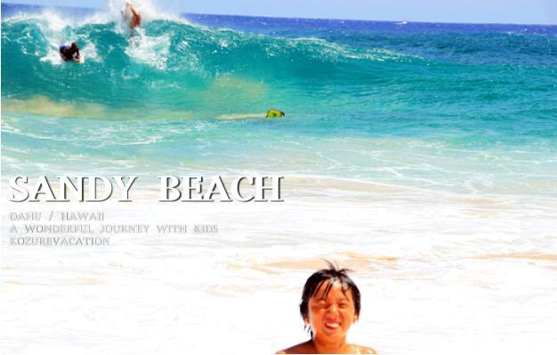 サンディビーチの大きな波