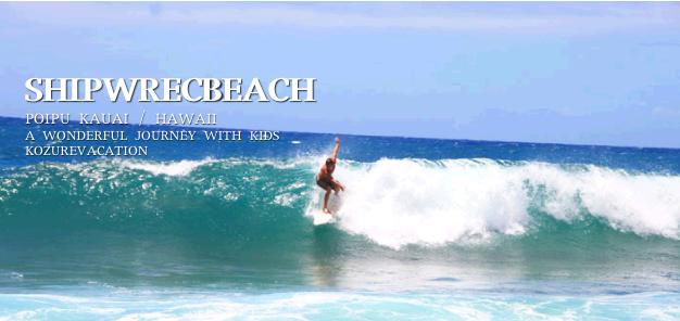 波に乗ってポーズを決めるハワイのサーファー