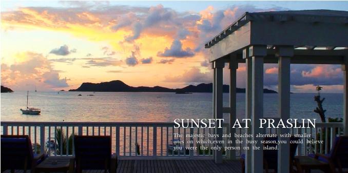 プララン島の夕陽