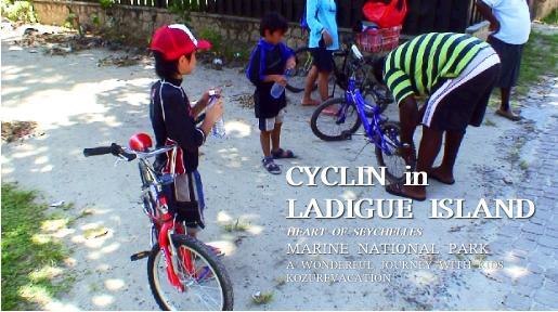 ラディーグ島で子連れサイクリング