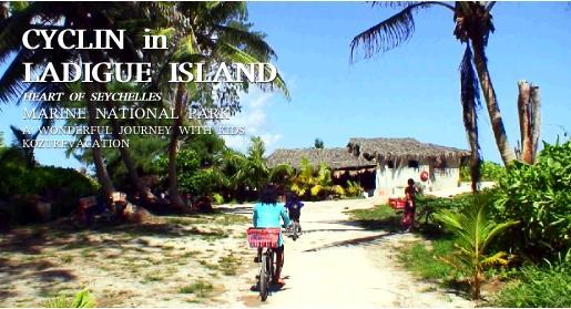 島の東側のビーチへのサイクリング