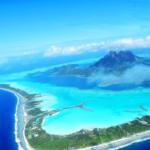 ボラボラ島の空中写真