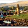 イースター島の夕陽