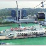 シンガポールケーブルの最高地点