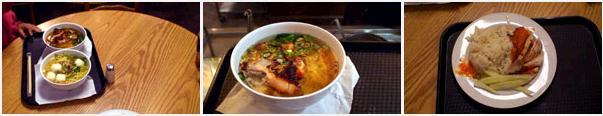 チャンギ空港のフードコートの料理の写真