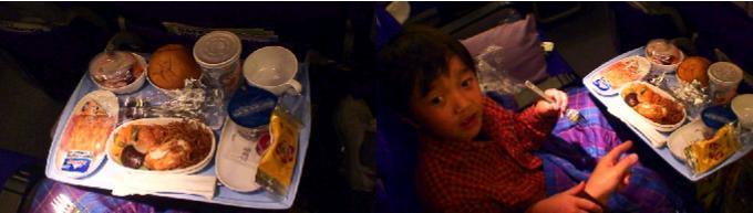 モルジブ行きフライトの機内食
