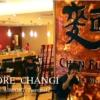 チャンギ空港のレストランでシンガポール名物ラクサを食べる