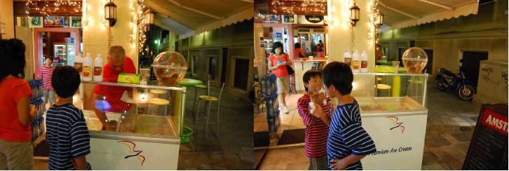 キダシネオン通りのアイスクリーム屋さん