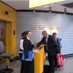 フランクフルト空港の搭乗ゲート