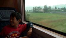 スイス鉄道の車窓の景色