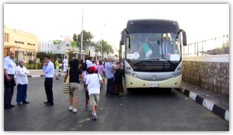 カイロ行きのバス