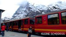 アルプスの山をすすむスイスの鉄道