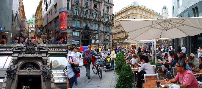 ウィーン歴史地区のカフェ