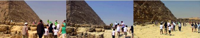 カフラー王のピラミッド内部への入り口