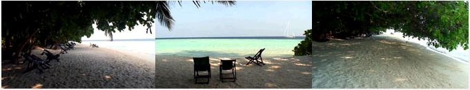 ビヤドゥ島の白沙のビーチ