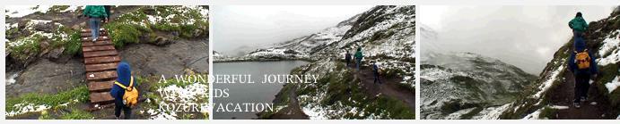レーティ山を目指すトレッキング