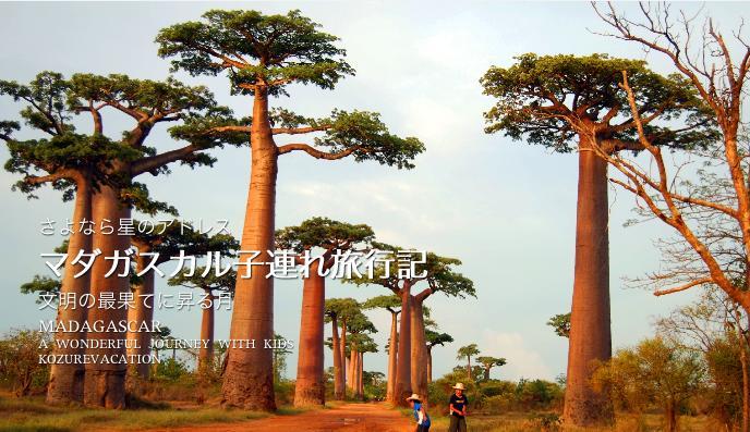 マダガスカルのバオバブ並木