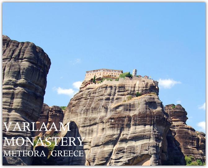 ヴァラルーム修道院。まさに空中につり上げられたイリュージョン