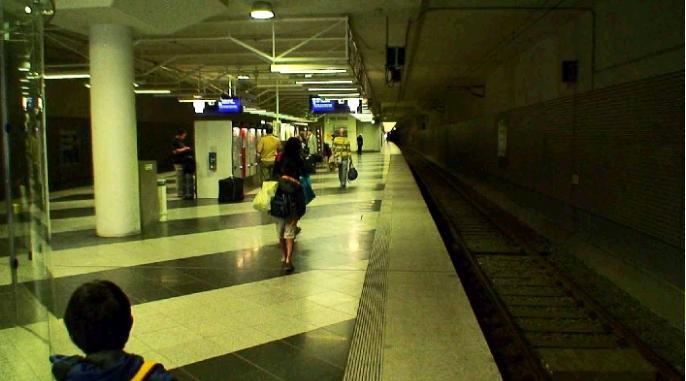 Sバーンのミュンヘン空港駅地下ホーム