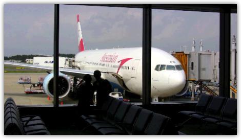 オーストリア航空に搭乗する