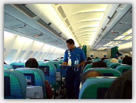 機内サービスの様子